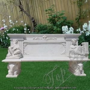 Nature White Marble Garden Bench TAMB-044