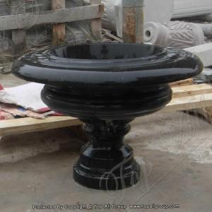 Nature black marble flower pot TAFV-021