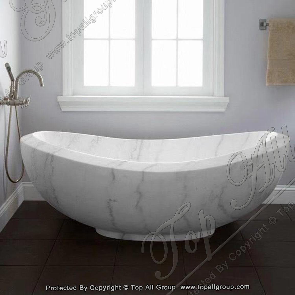 Nature white marble bathtub for bathroom