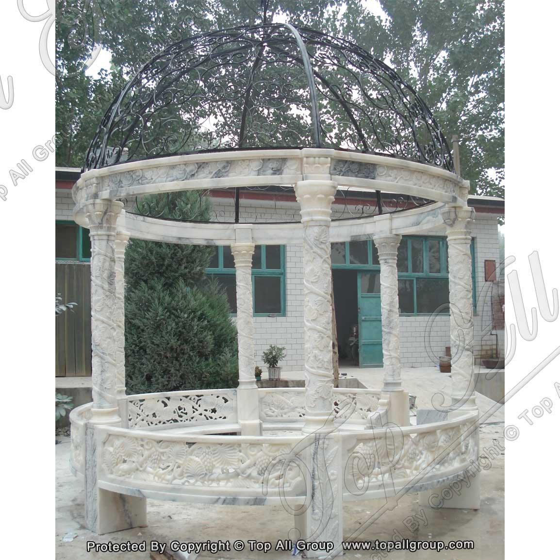 Nature white marble garden gazebo
