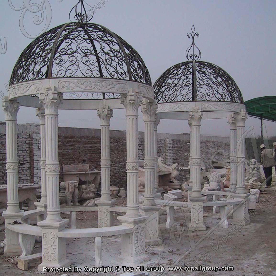 Outdoor luxury garden Marble gazebo