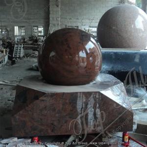 Red Granite Sphere Fountain TASBF-032