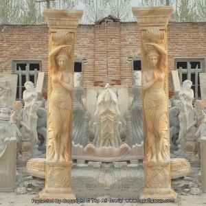 Red marble women column TAMC-010