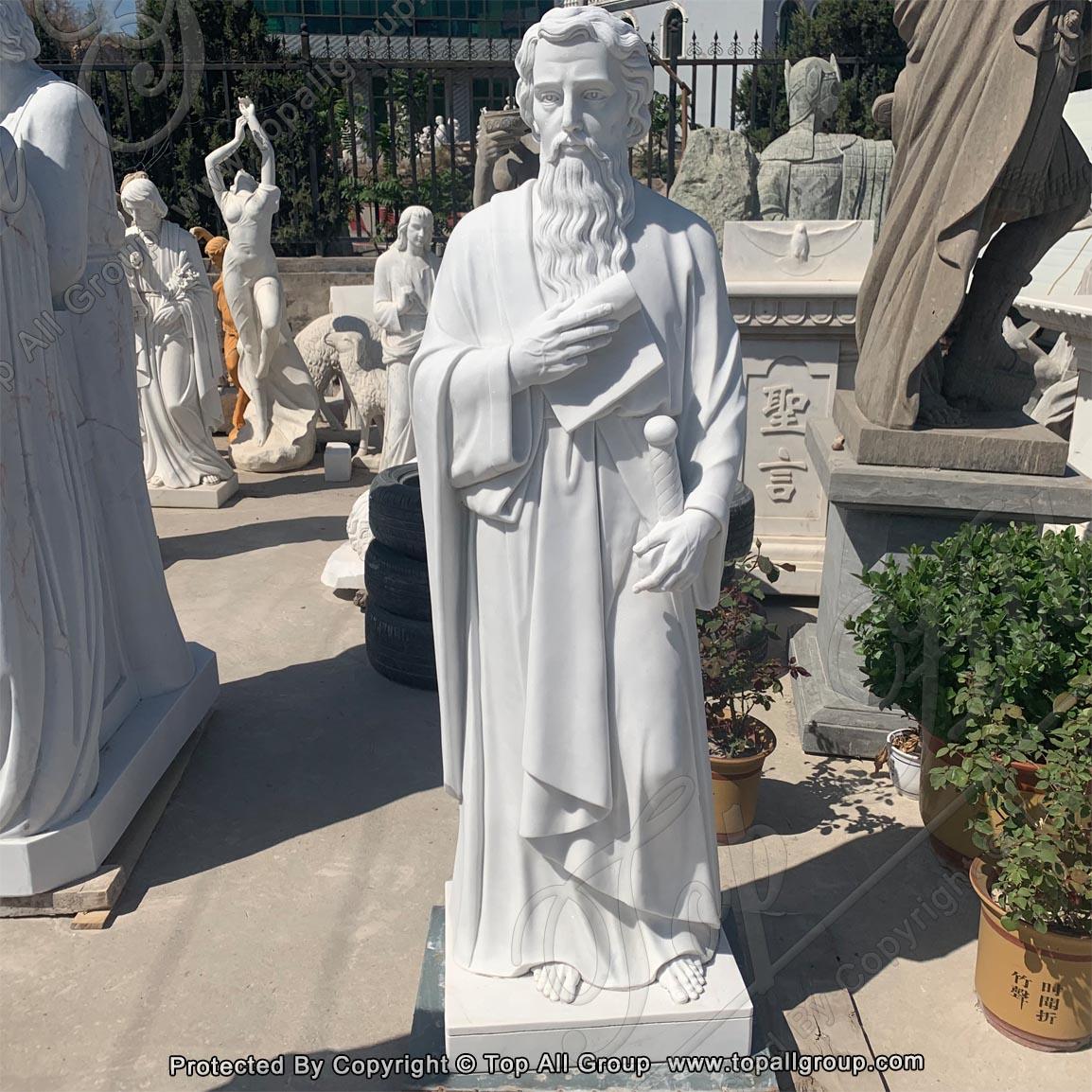 Religious marble Saint Statues