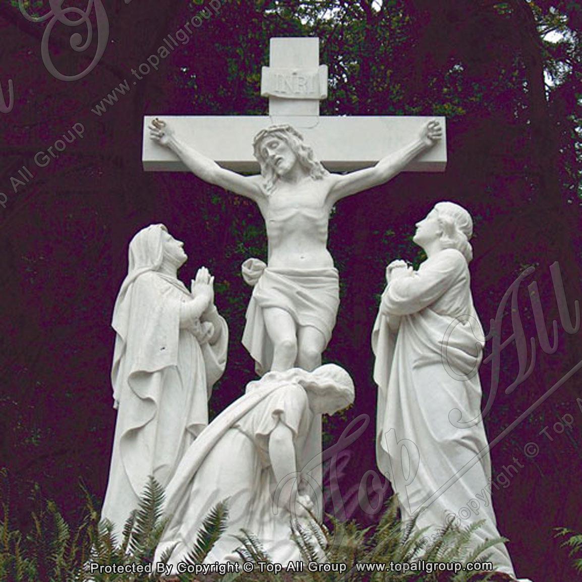 Religious statues of crucifix Jesus on cross 1