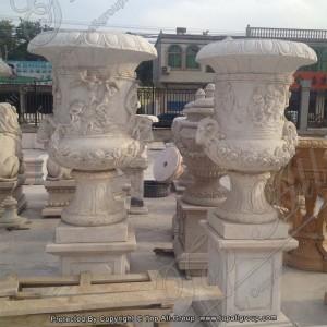 Roman Style stone flower vase TAFV-045