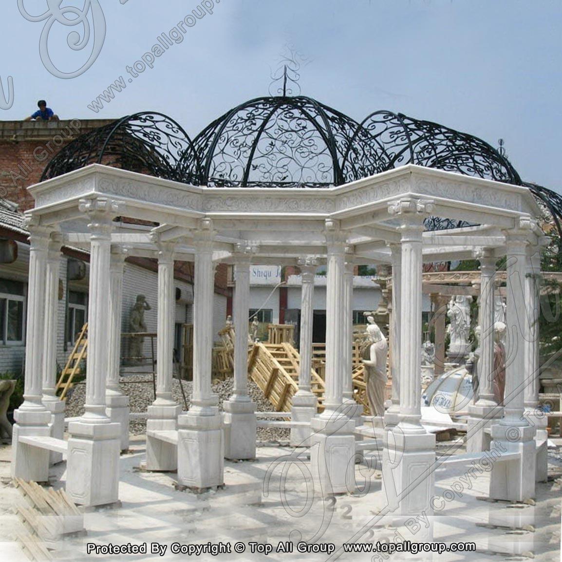 Roman style marble gazebo