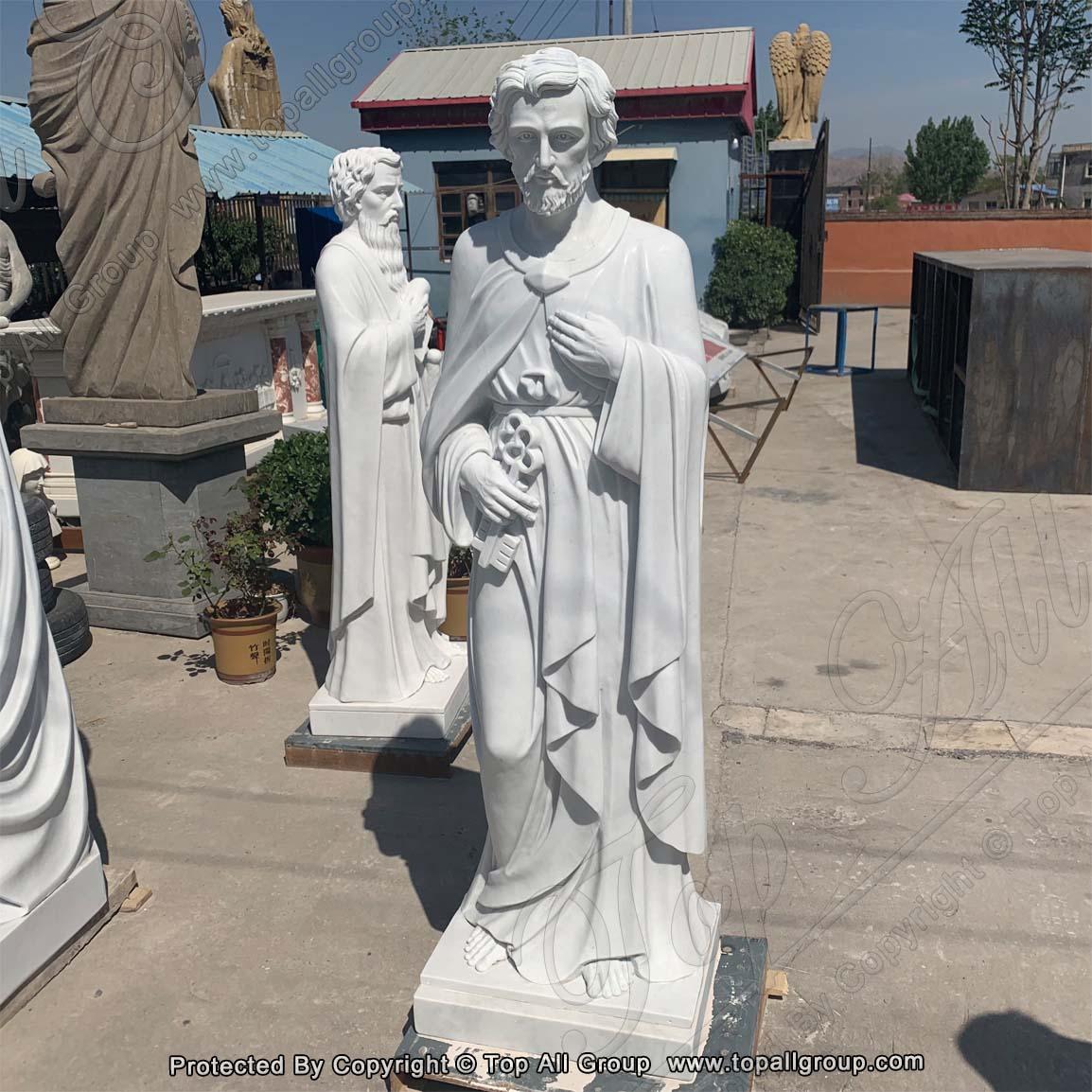Saint Peter Religious Marble Statue TARS035 Featured Image