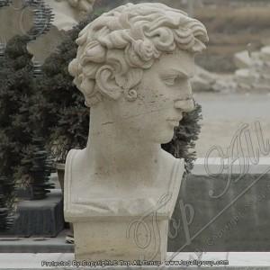 Sandstone David Bust Statue Head Sculpture TABS-012