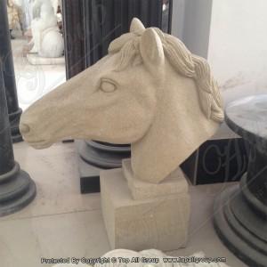 Sandstone-horse-head-statue TAAS-002