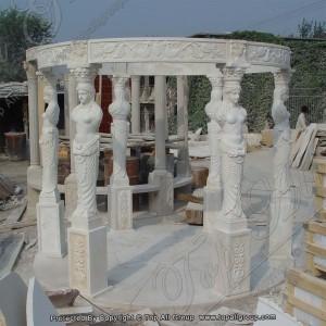 Sculpture column marble gazebo TAGG-013