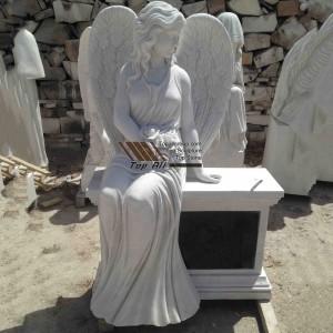 Seat Marble Angel Statue TSAS-018