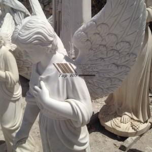 Standing Angel Marble Sculpture-023