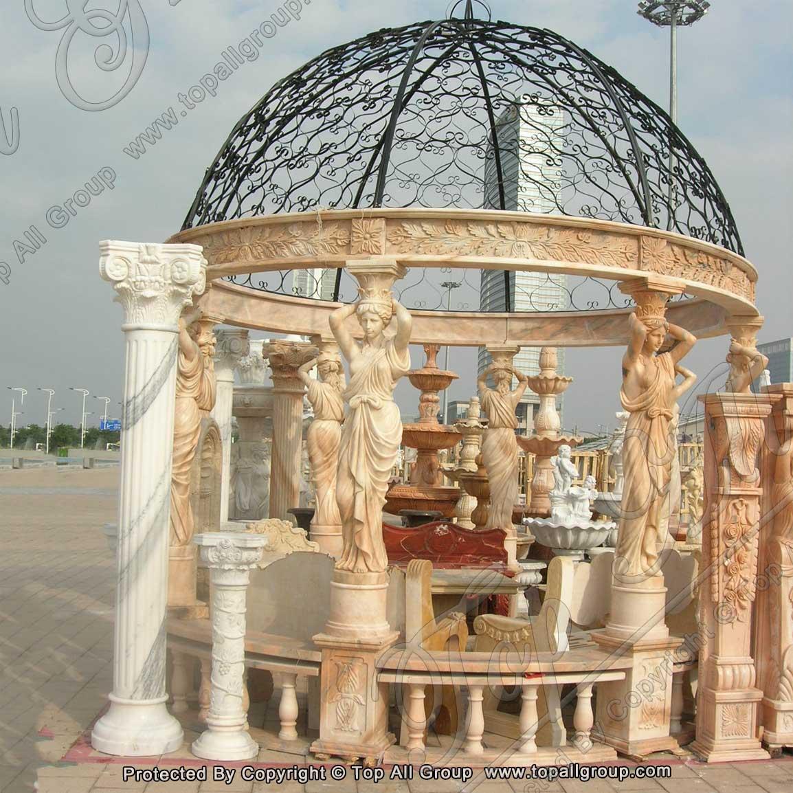 Stone Gazebo Sculpture