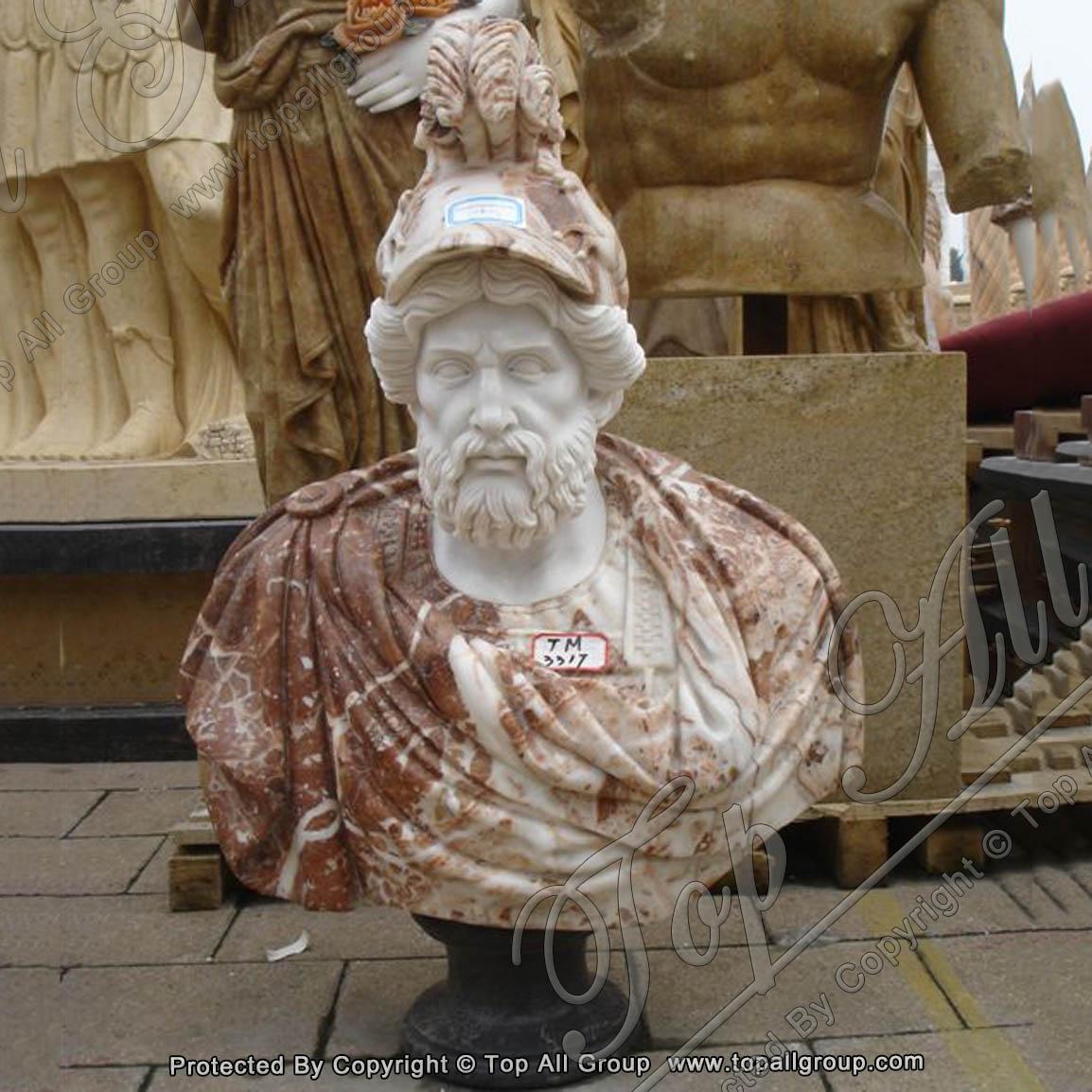 Stone Sculpture Marble Statue Head Bust for Garden Decoration