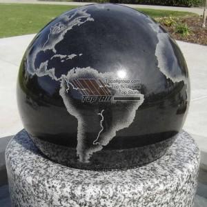 Round Base Stone Ball Fountain TASBF-016