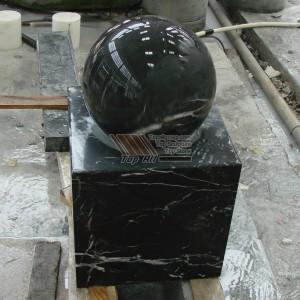 Black Marble Stone Ball Fountain TASBF-019