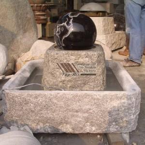 Black Granite Rolling Sphere Water Fountain TASBF-023
