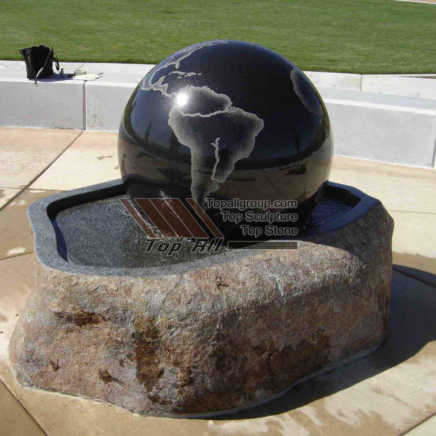 Stone ball Fountain
