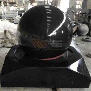 Absolute Black Granite Stone Ball Fountain TASBF-030