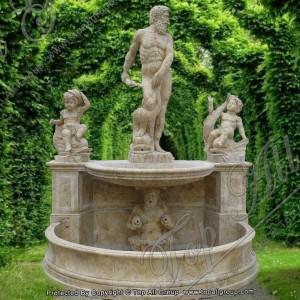 Travertine Statue Garden Fountain TAGF-68