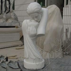 True Love white marble head statue TABS-057