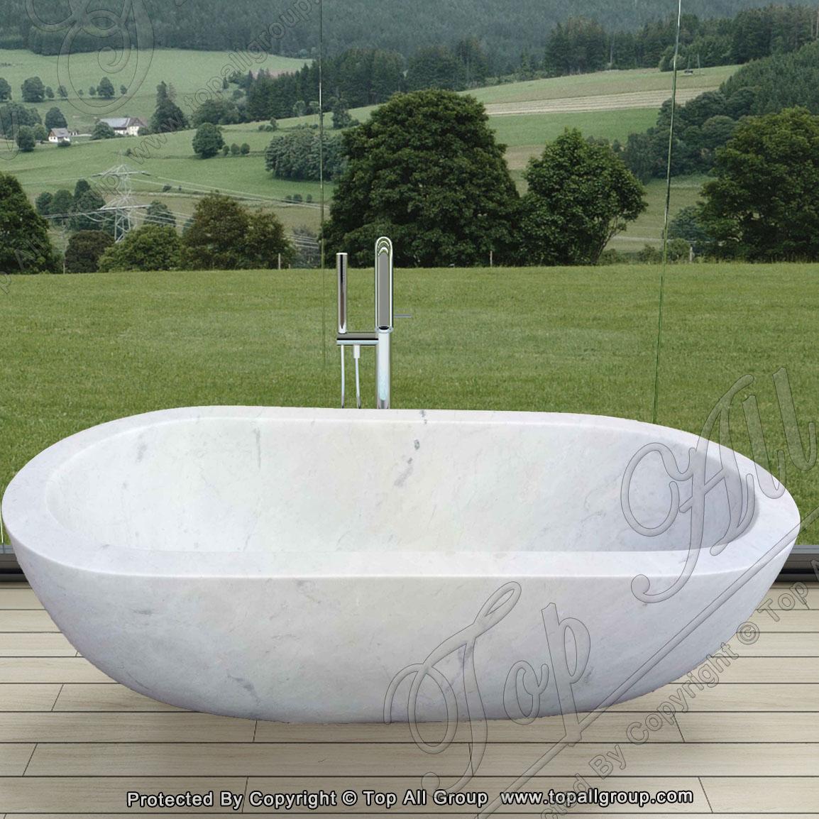 White Marble Bath Tub