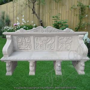 White Marble Garden Bench TAMB-043