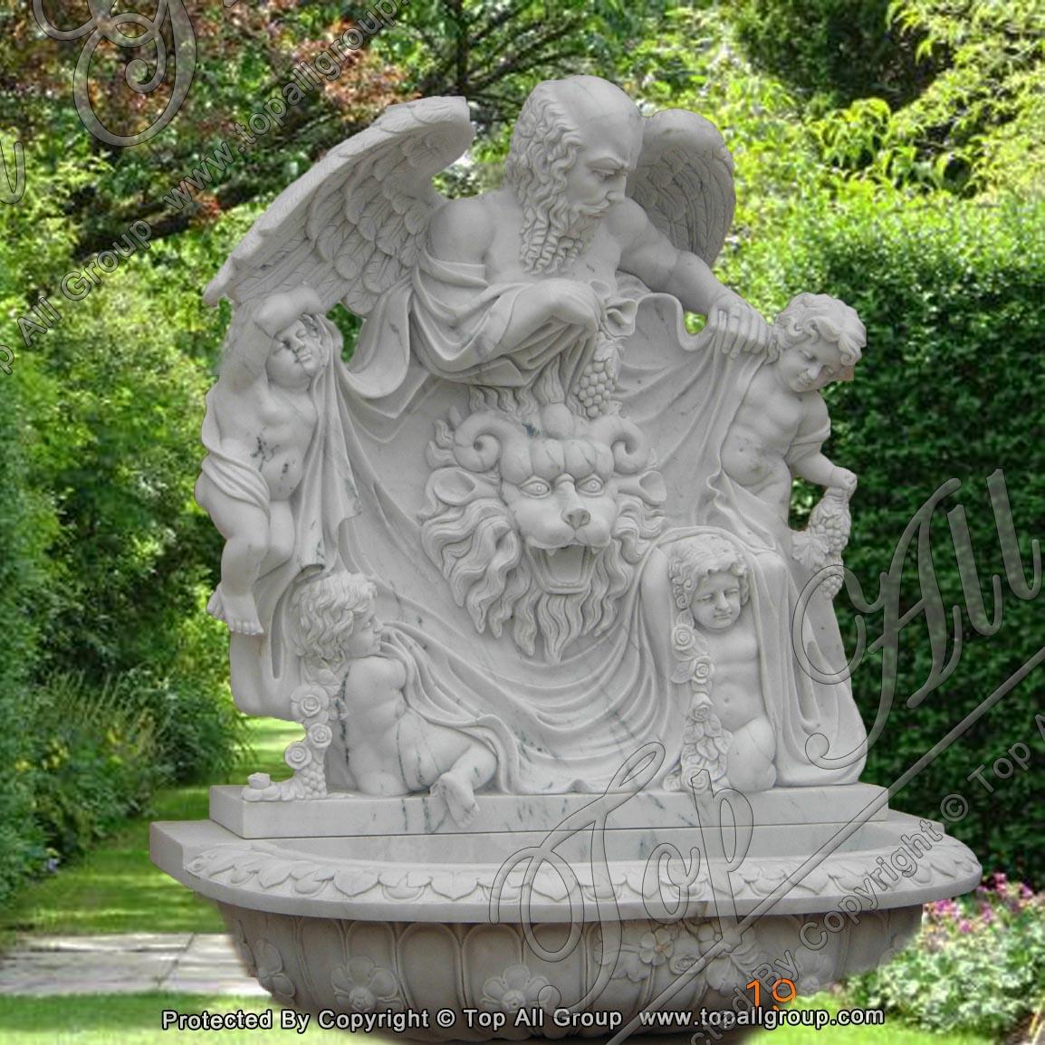 White Marble Garden Wall Fountain