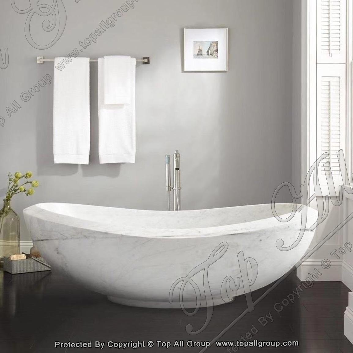 White Marble Stone Bathtub For Sale