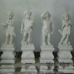 White four season angel marble statue TPFSS-027