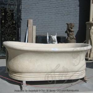Yellow Marble Bath Tub for bathroom TABT-009