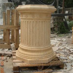 Yellow Marble Column Decoration TAMC-015