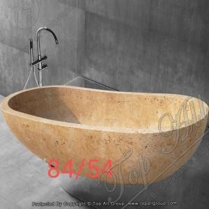 Yellow Marble Free Standing Bathtub TABT-030