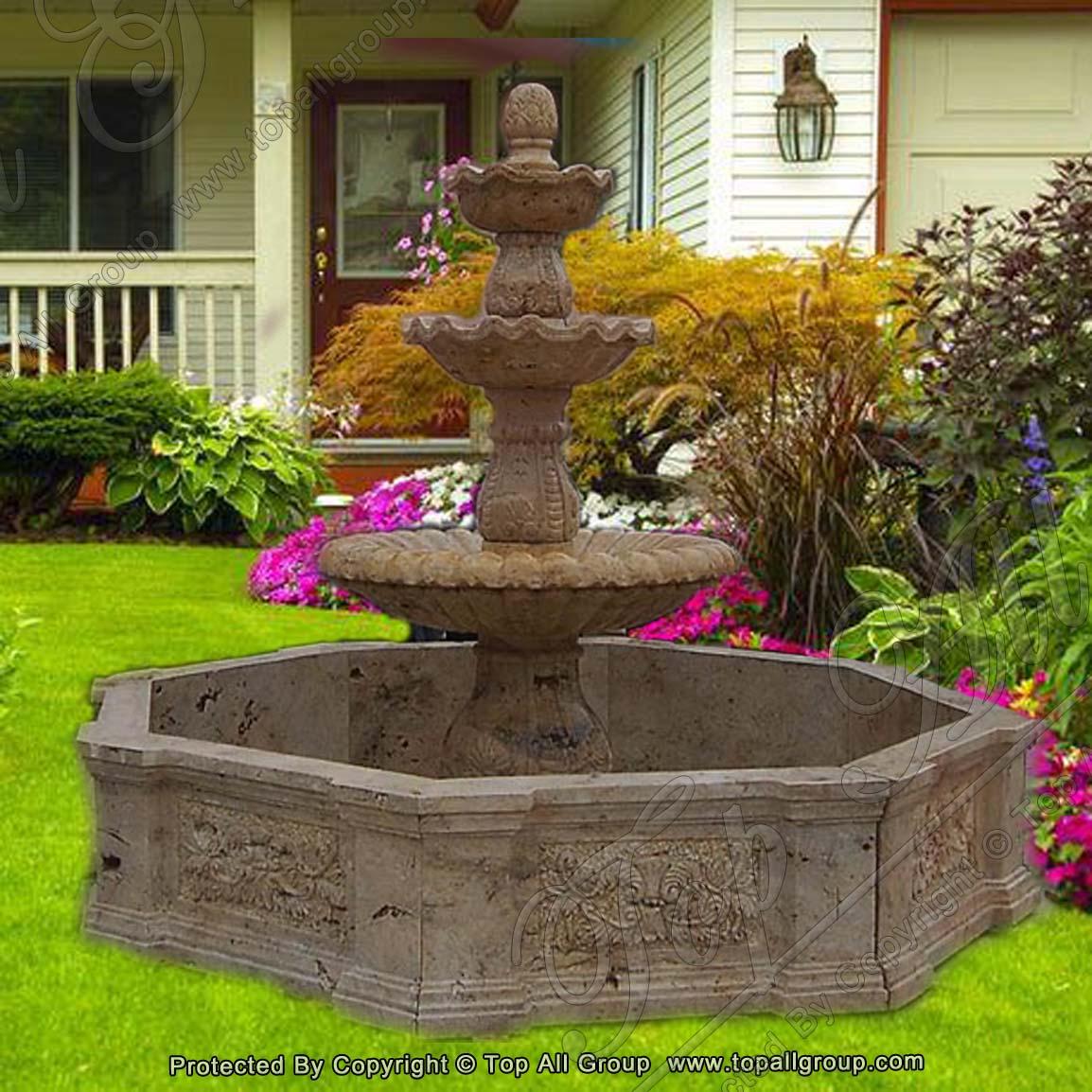 Yellow Marble Garden Fountain