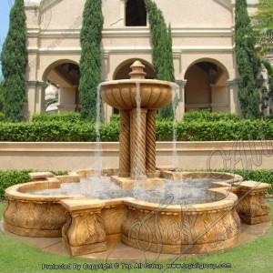 Yellow Marble Garden Water Fountain TAGF-31