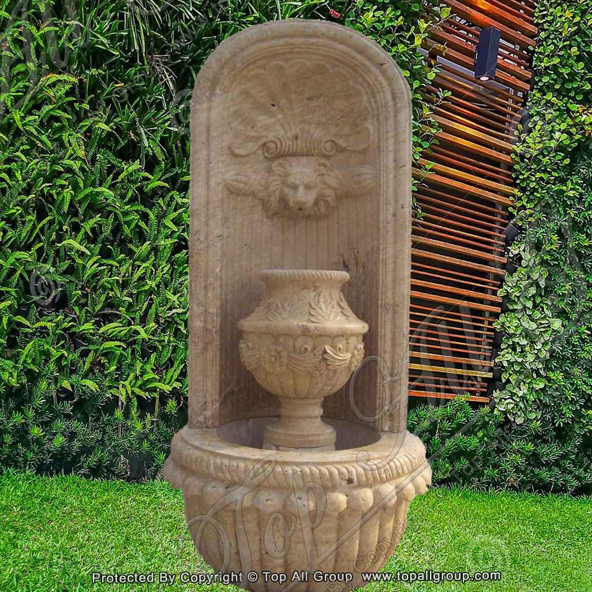 Yellow Sandstone Garden Home Wall Fountain