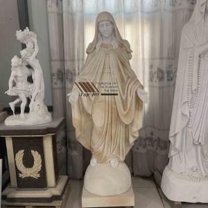 Yellow Marble Virgin Mary Sculpture TARS007