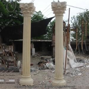 Yellow marble column TAMC-007
