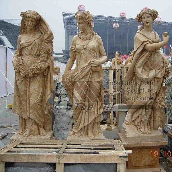 Life size marble four season sculpture TPAS-013 detail pictures