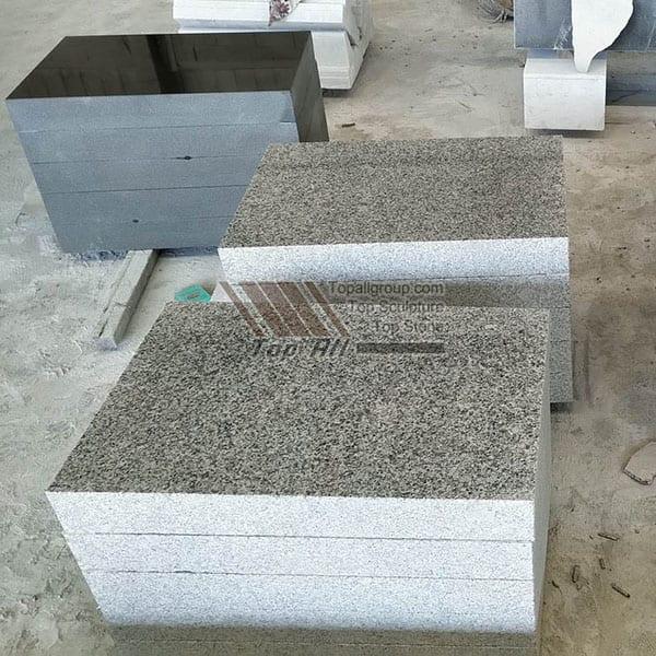 China Factory Granite Slant Memorials Flat Footstones TATBS-010 detail pictures