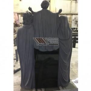 Absolute black granite holy family tombstone tatbs-019