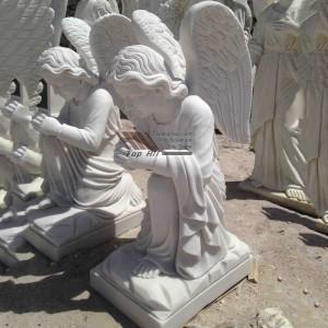 kneeling Marble Angel Statue TSAS-019