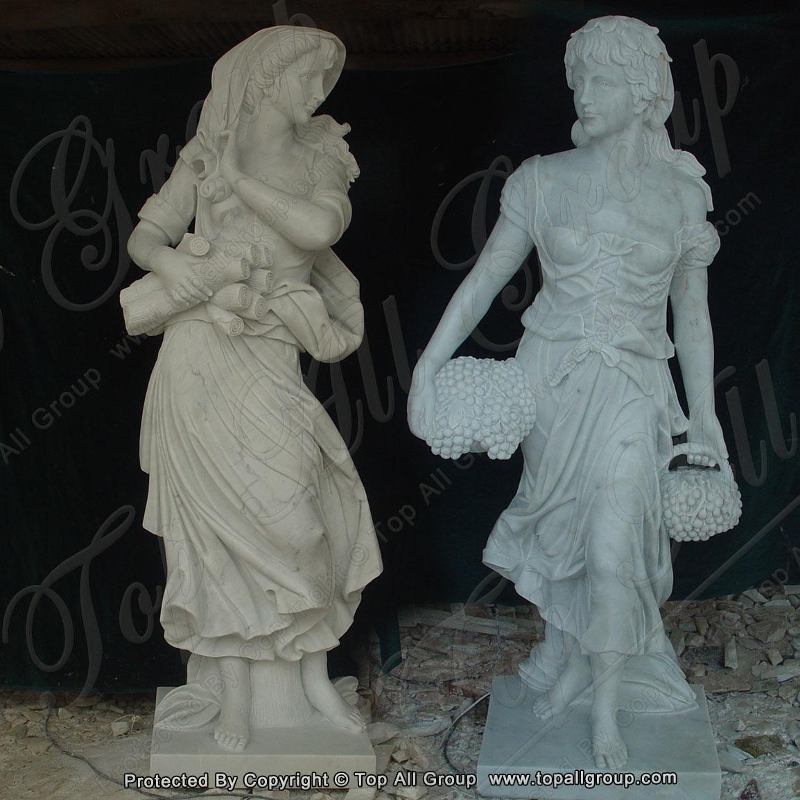life size women four season marble statue